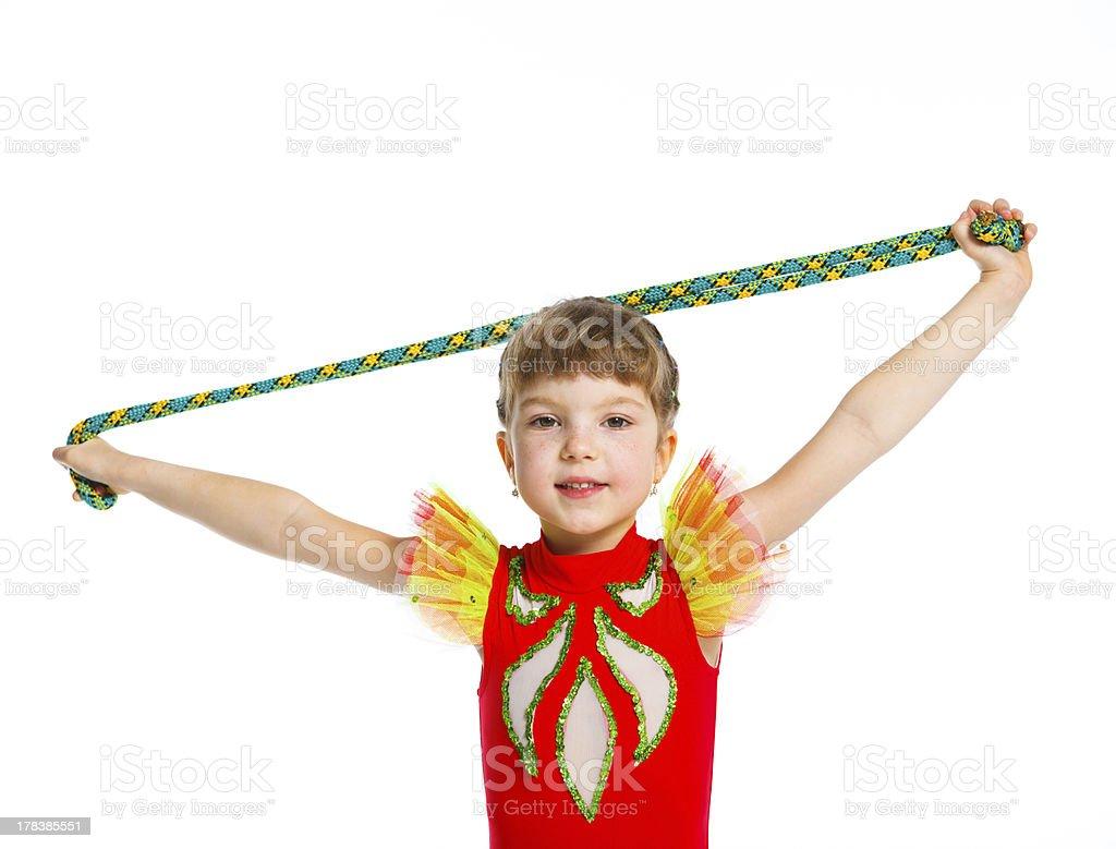 Little gymnast royalty-free stock photo