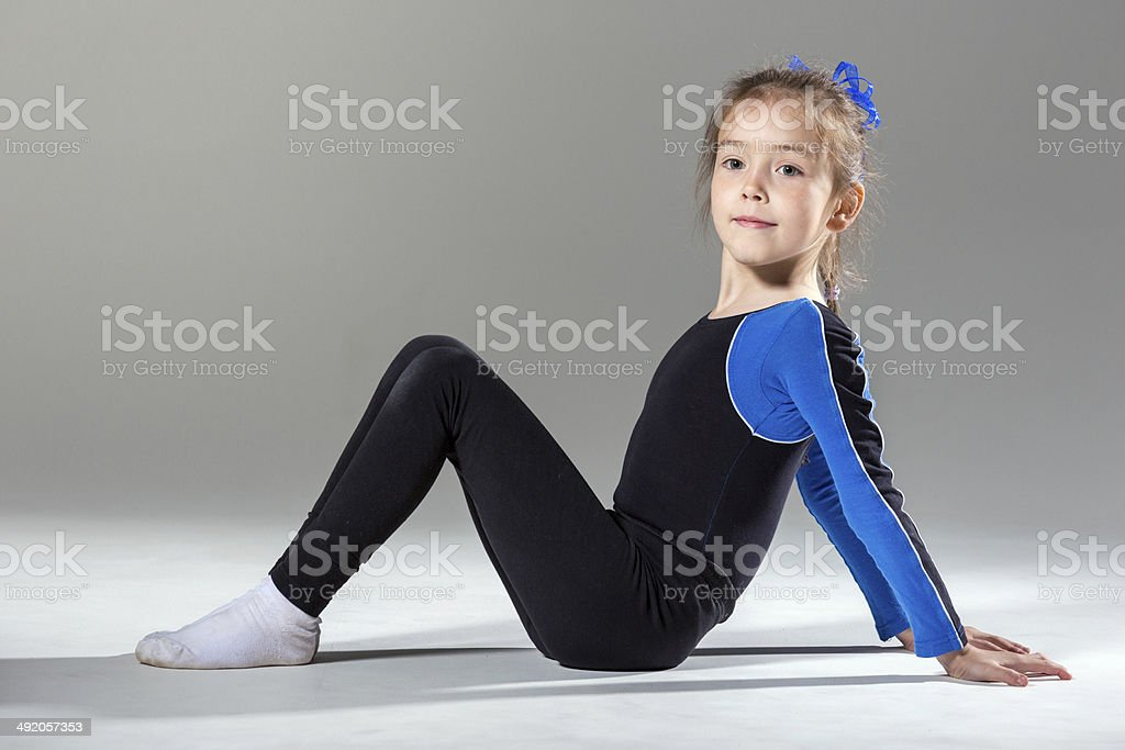 Little gymnastics girl royalty-free stock photo