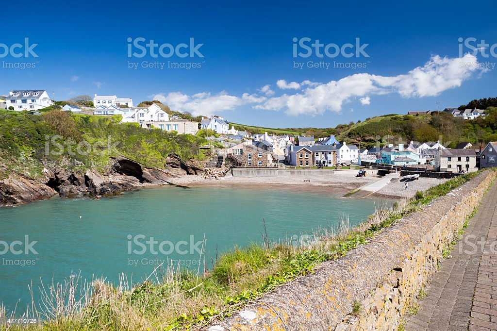 Little Haven Wales stock photo