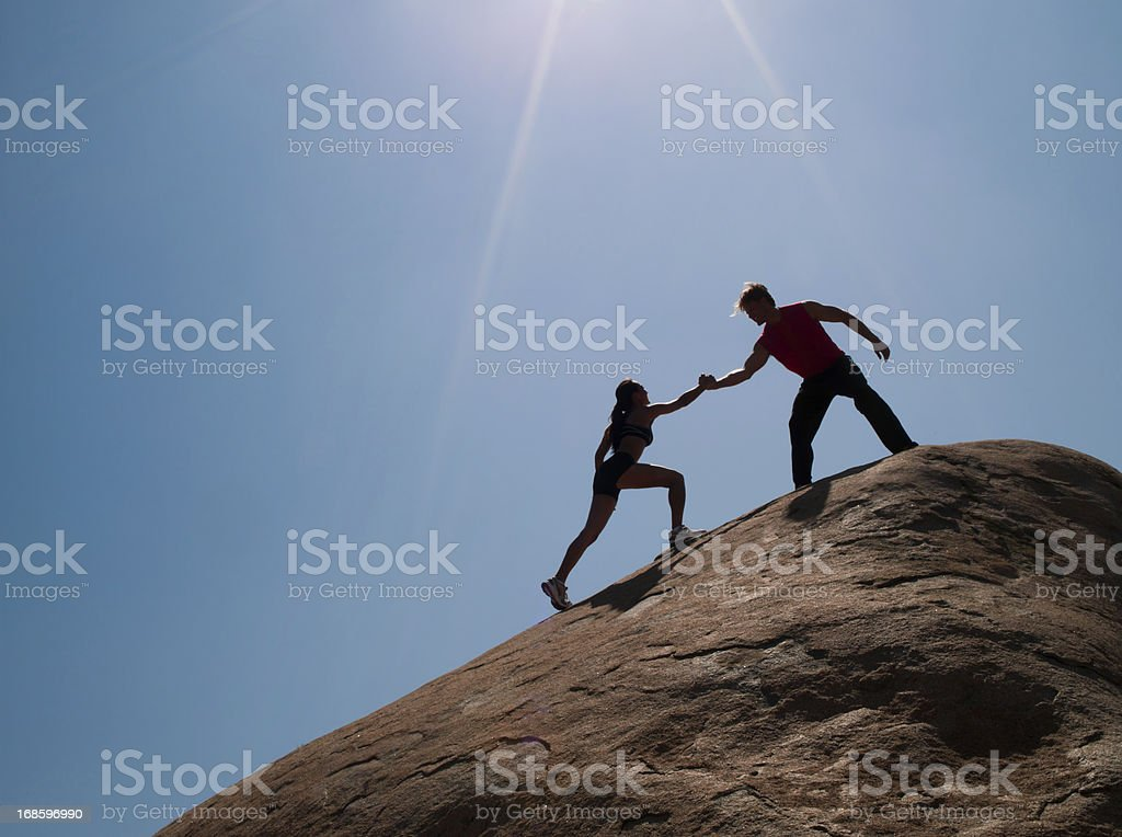 Little Help from a Friend royalty-free stock photo
