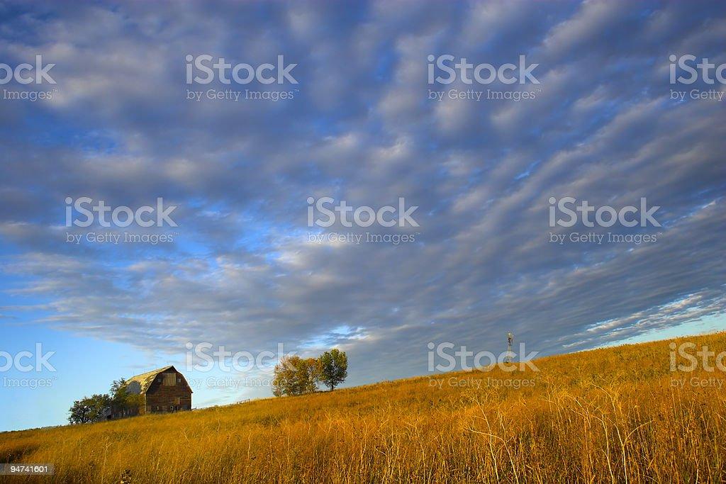 Little Hillside Farm stock photo