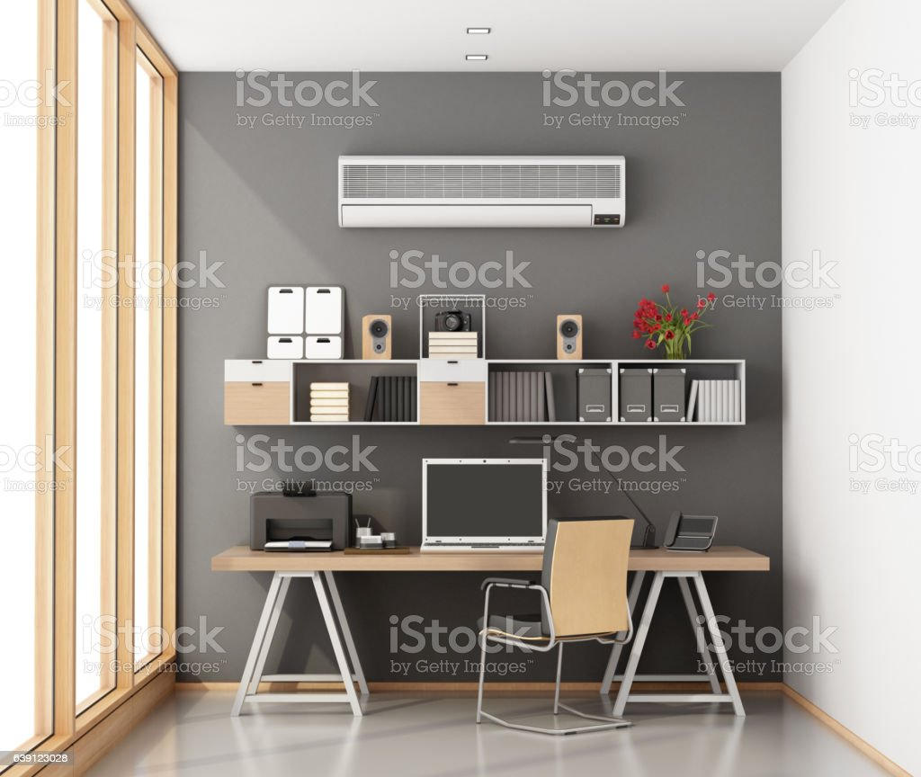 Little home office stock photo