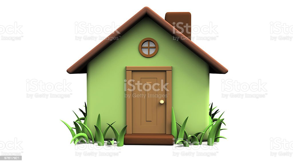 little house 3d royalty-free stock photo