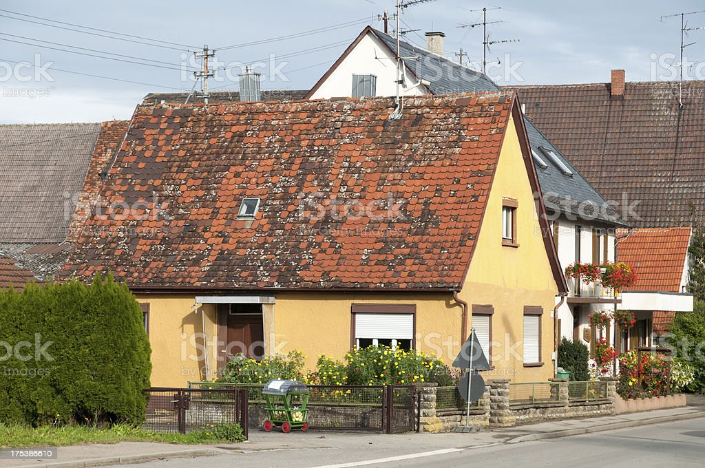 Little house in a village, rural idyll, Germany stock photo