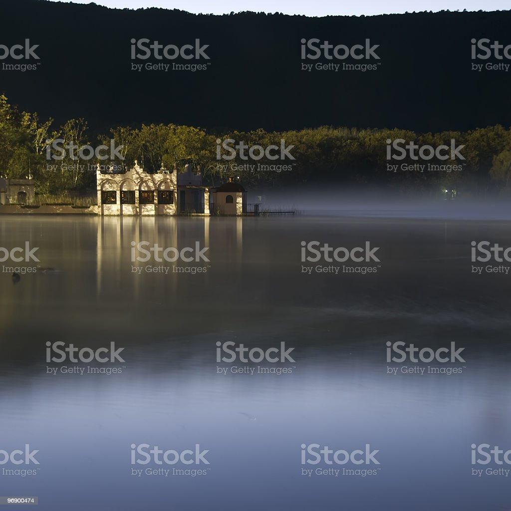 Little house in Banyolas royalty-free stock photo