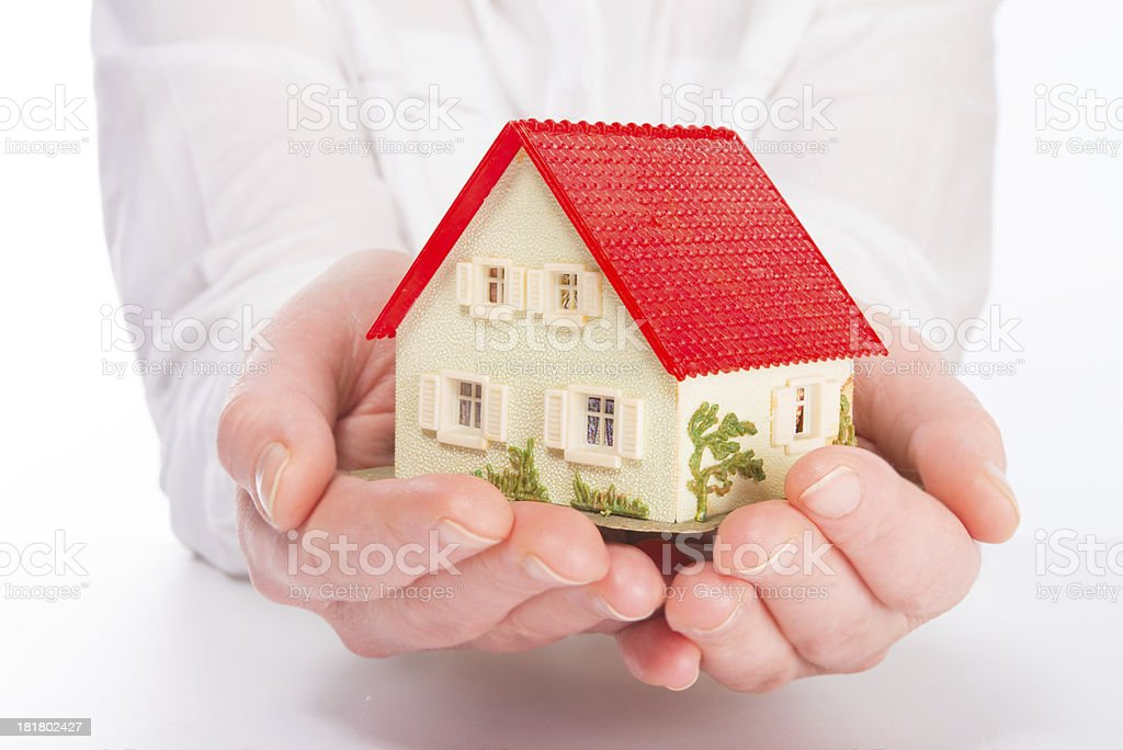 Little House on the hands royalty-free stock photo