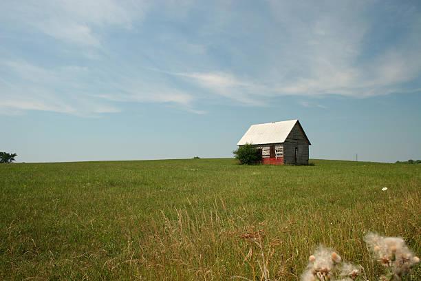 Little House on the Prairie stock photo