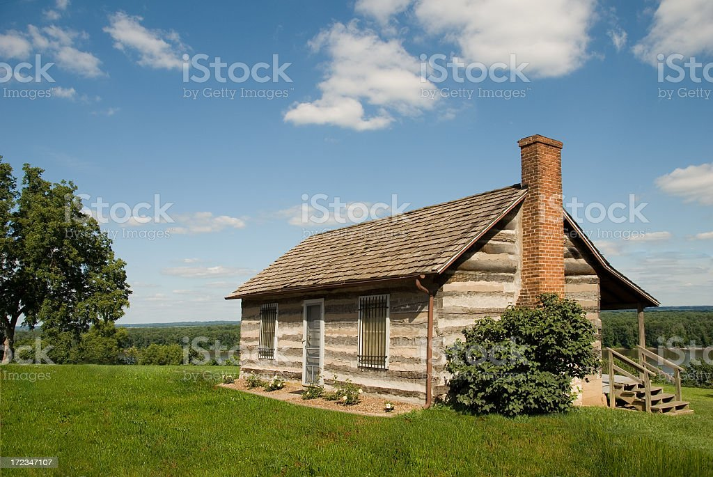 Little House on the Prairie royalty-free stock photo