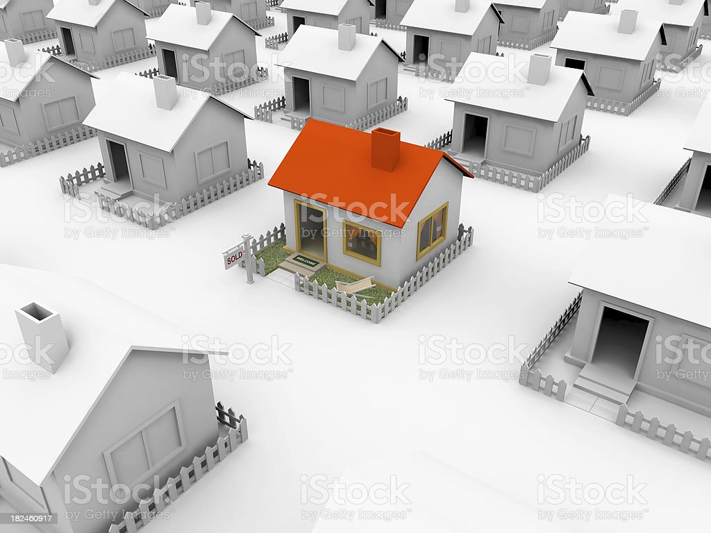 Little houses royalty-free stock photo