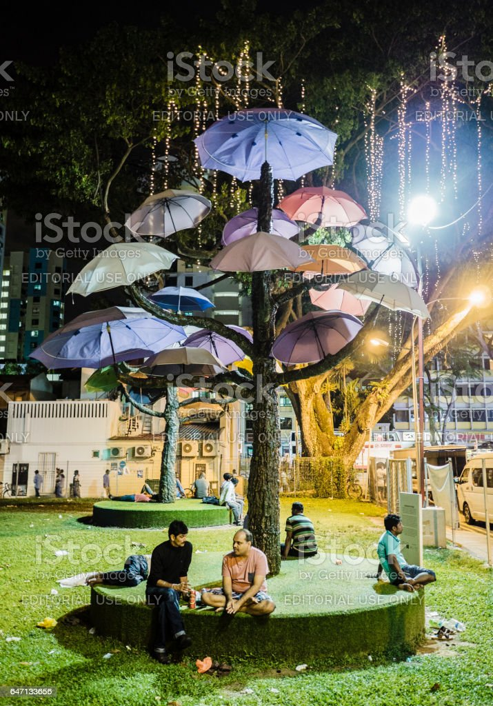 Little India Singapore stock photo