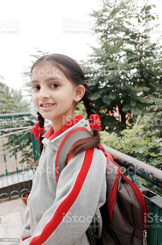 Piccola ragazza indiana di andare a scuola fotografie for Piani di progettazione domestica indiana con foto