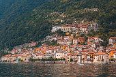 Little Italian town on coast Lake Como, Italy