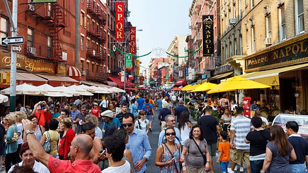 Little Italy, New York City stock photo