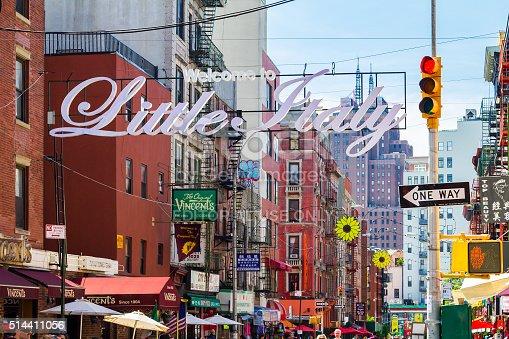 istock Little Italy Street Scene in New York City 514411056