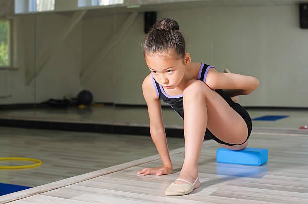 Little japanese Girl In Gymnastics stock photo