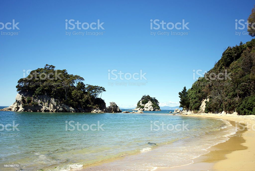 Little Kaiteriteri Beach, Tasman Region, New Zealand stock photo