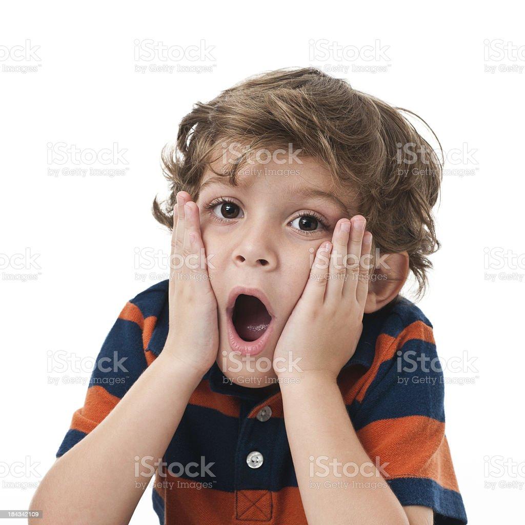 little kid awe royalty-free stock photo