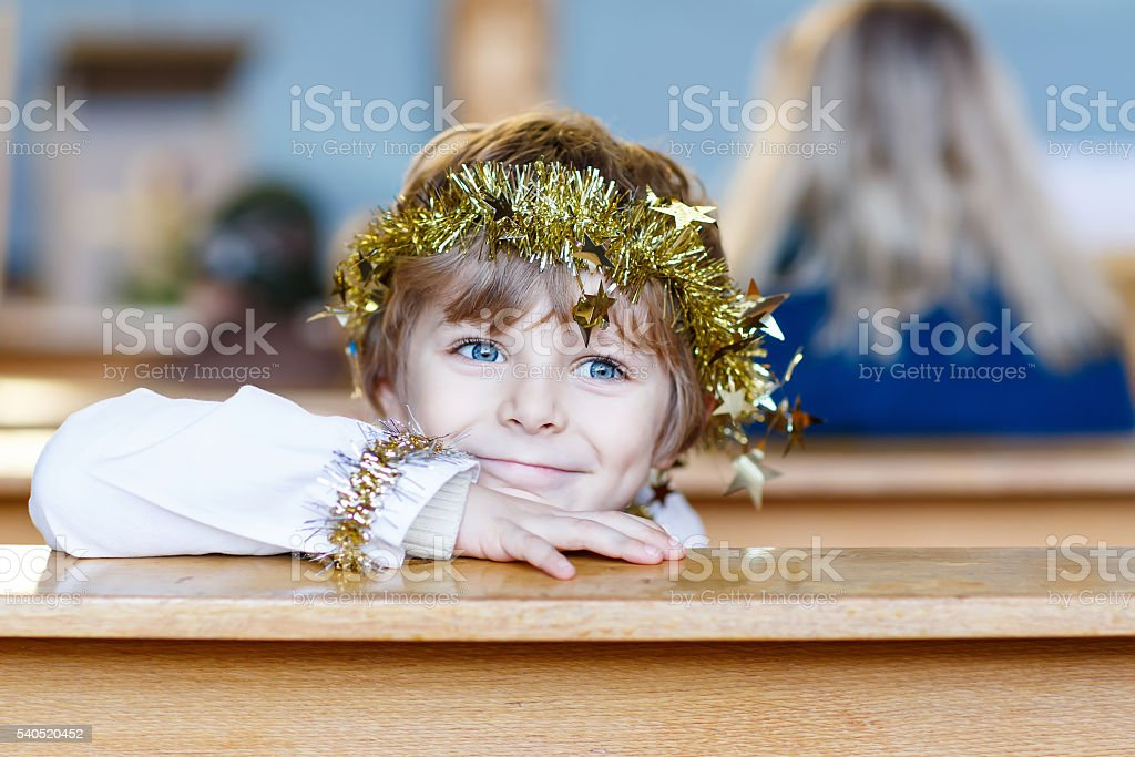 Image result for little boy who played the part of the angel in the Christmas story picture
