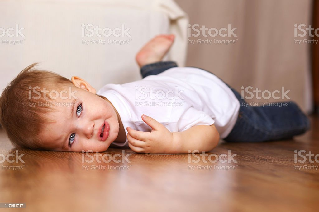 little kid crying stock photo