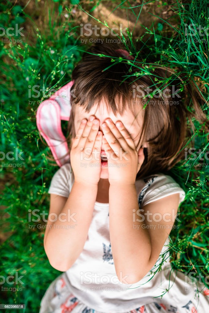little kid crying royalty-free stock photo