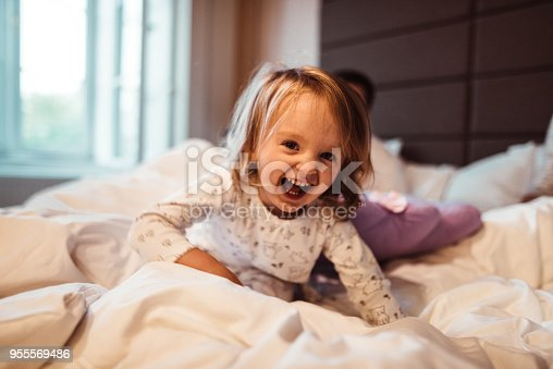 678589610 istock photo little kid happiness at home 955569486