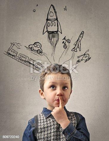 istock Little Kid's Imagination 509720240