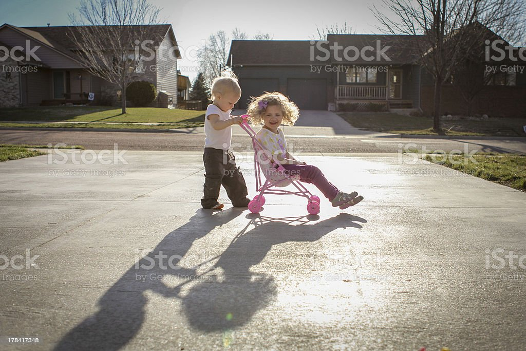 Little Kids Playing stock photo