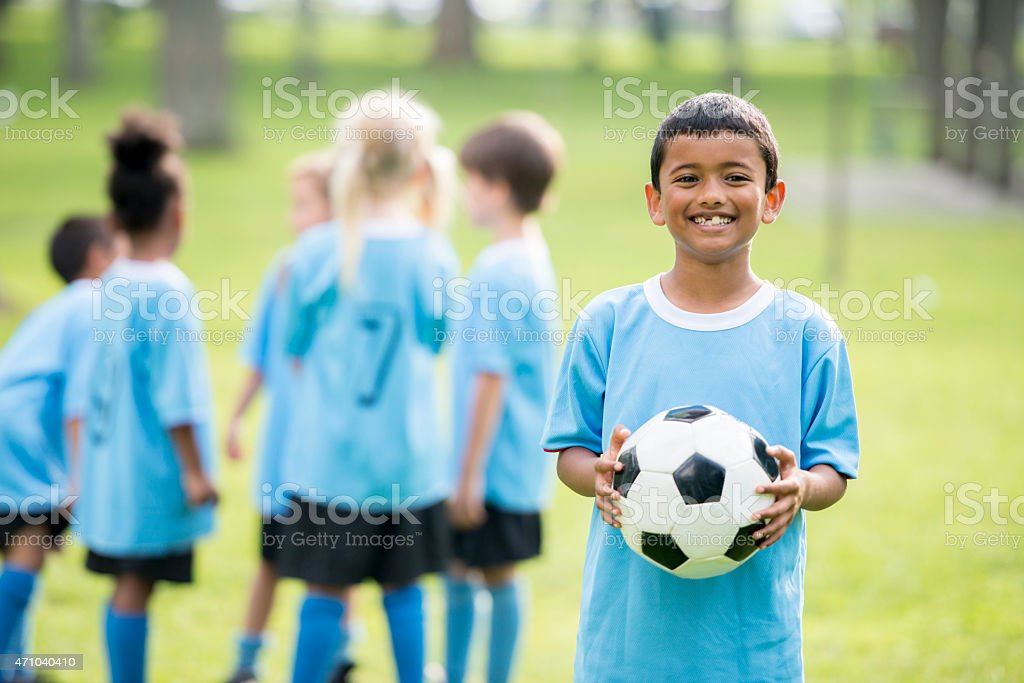 Little Kids Soccer League stock photo