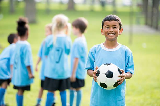 Little Kids Soccer League stock photo