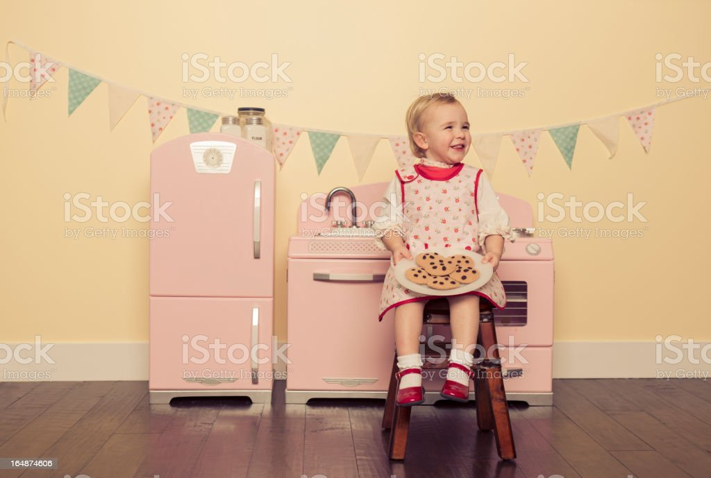 Little Kitchen Fun royalty-free stock photo