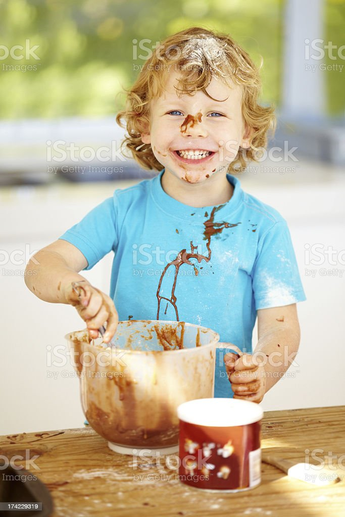 Little kitchen whizz royalty-free stock photo