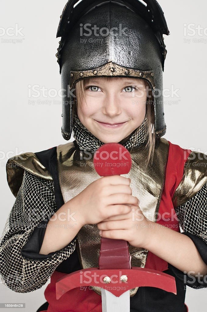 Little knight royalty-free stock photo