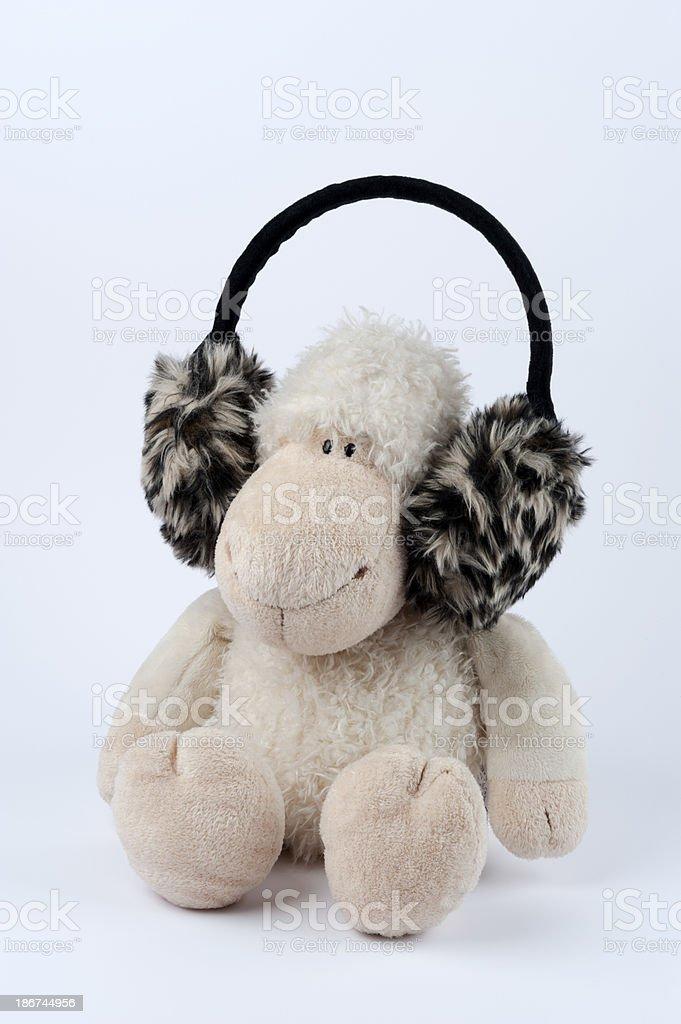 little lamb headset royalty-free stock photo
