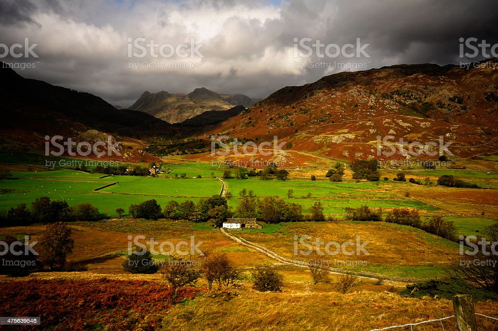 Little Langdale and the Pikes stock photo