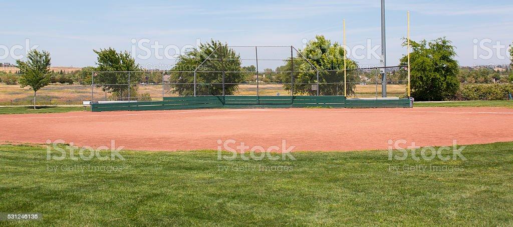 Little League Baseball Field stock photo