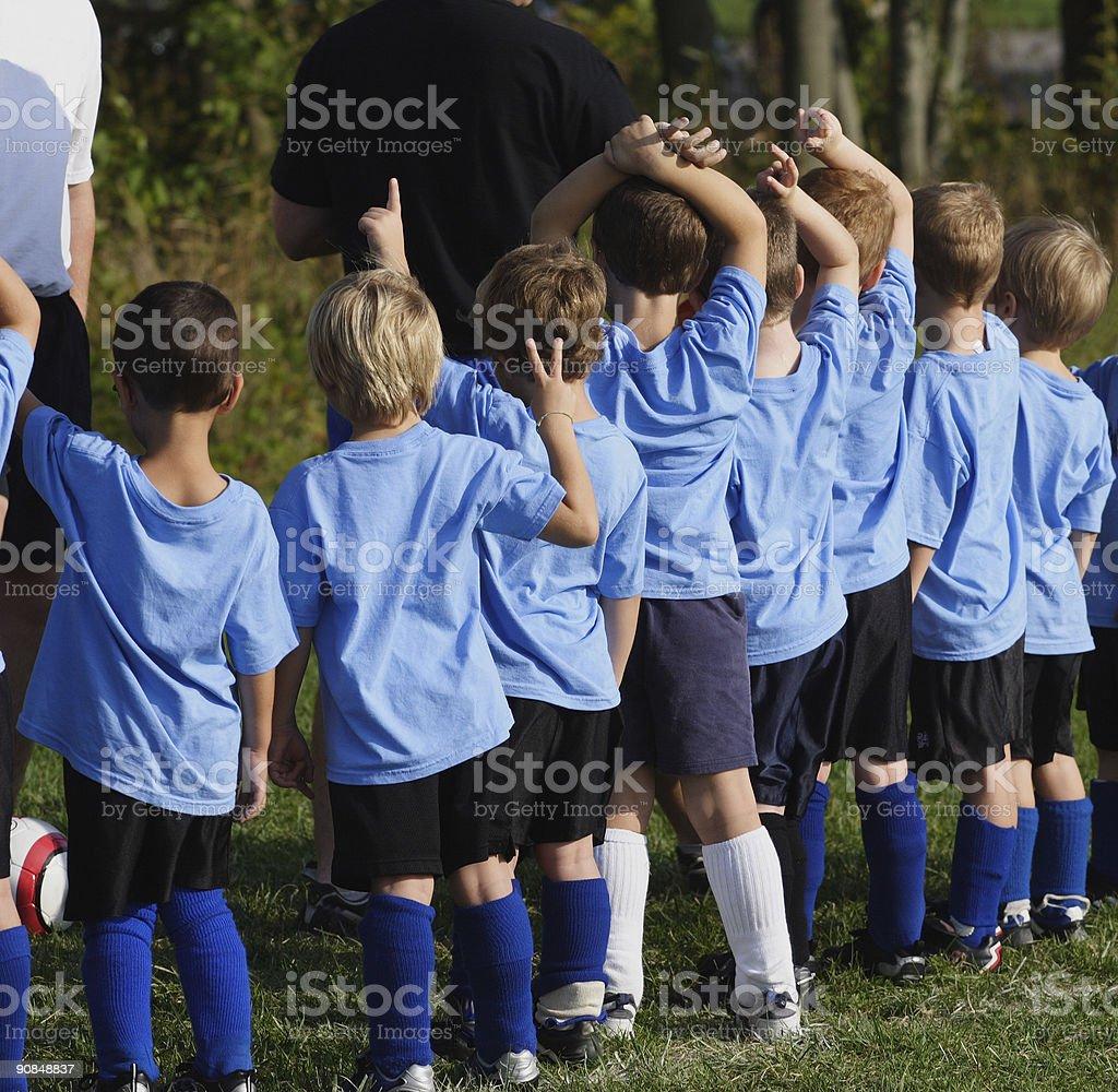 Little League Boys Soccer royalty-free stock photo