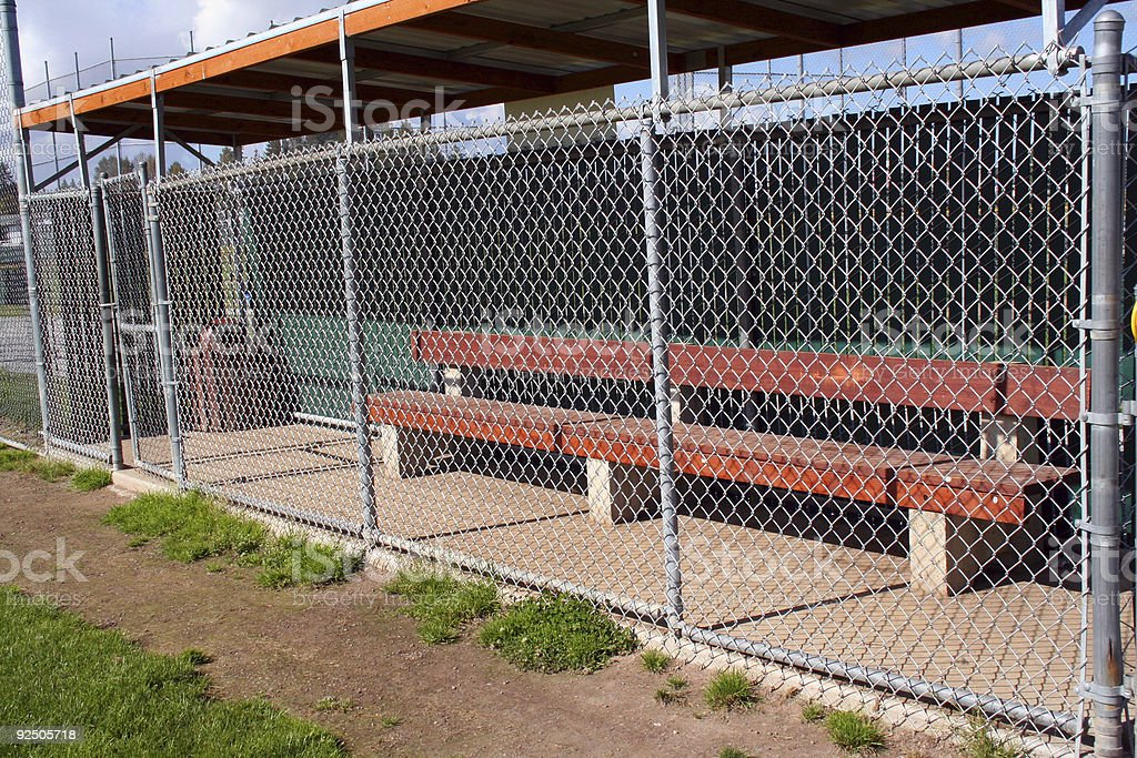 Little League Dugout 2 royalty-free stock photo
