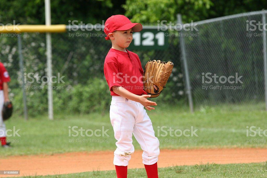 Little League Fielder stock photo