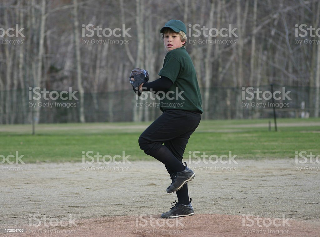 little league pitcher royalty-free stock photo