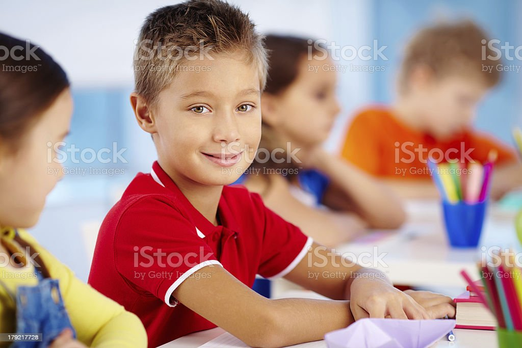 Little learner royalty-free stock photo