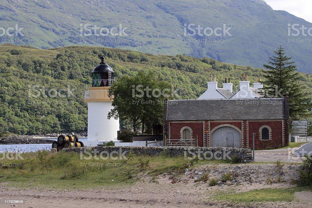 Little lighthouse stock photo