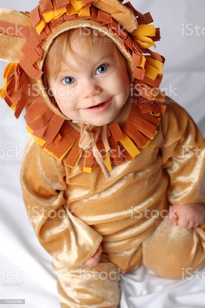 Little Lion Looking Up royalty-free stock photo
