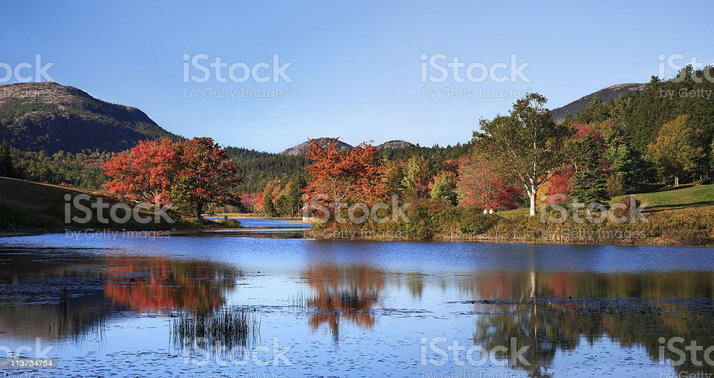 Little Long Pond Panoramic royalty-free stock photo