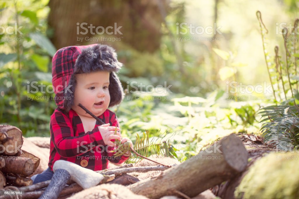 Little Lumberjack royalty free stockfoto