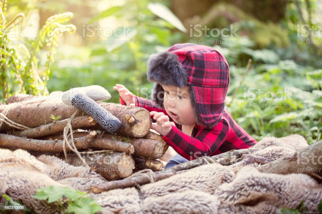 Little Lumberjack foto stock royalty-free