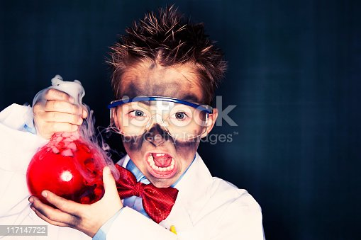 Conceptual concoctions brewed daily. A little boy experiments with science. Plenty of space for your smoking copy.