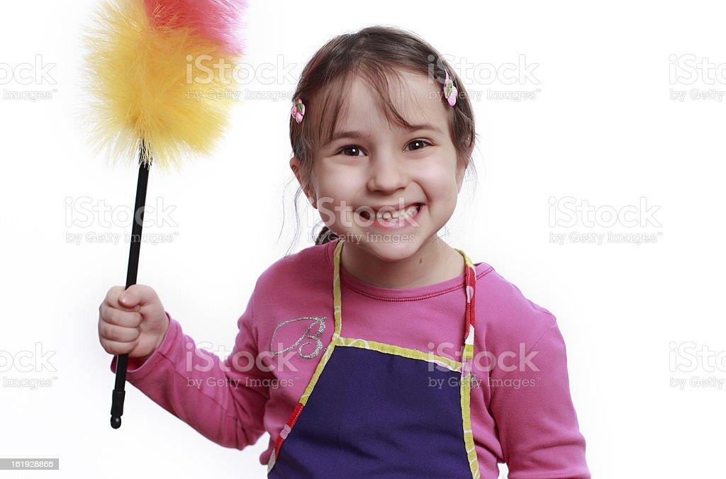 Little maid stock photo