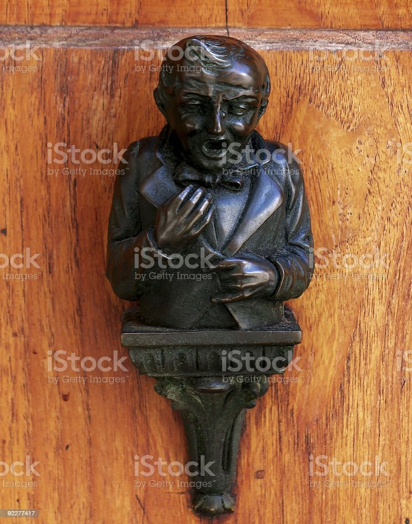 Little Man Door Ornament stock photo