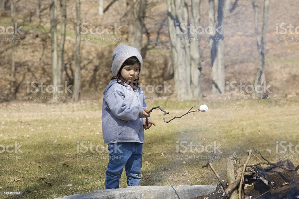 Little Marshmallow Roaster royalty-free stock photo