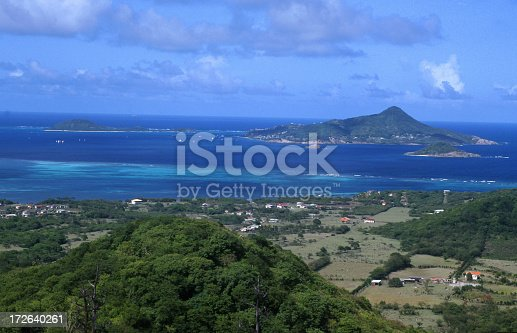 The Island of Petit Martinique as seen from Carriacou Caribbean Sea